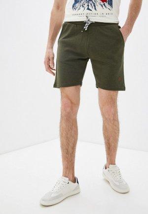 Шорты спортивные Indicode Jeans. Цвет: хаки