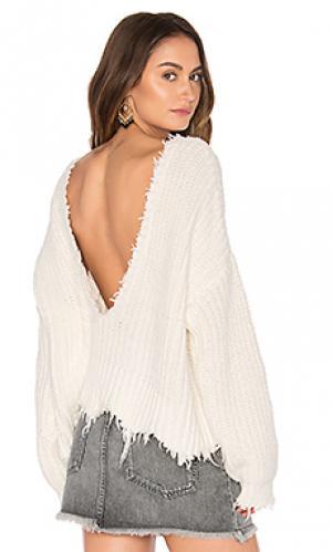 Однотонный свитер Wildfox Couture. Цвет: белый