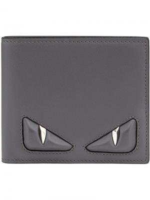 Складной кошелек с декоративными вставками Fendi. Цвет: черный
