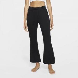 Женские слегка укороченные брюки Yoga - Черный Nike