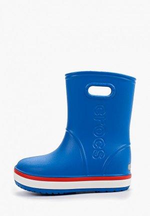Резиновые сапоги Crocs Crocband Rain Boot K. Цвет: синий