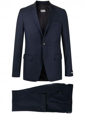 Костюм с однобортным пиджаком Karl Lagerfeld. Цвет: синий