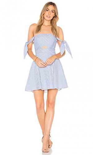 Платье в полоску Bardot. Цвет: синий