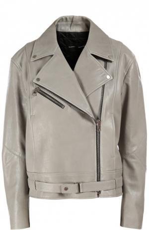 Куртка кожаная Proenza Schouler. Цвет: серый