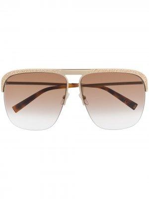 Солнцезащитные очки-авиаторы с кристаллами Givenchy Eyewear. Цвет: золотистый