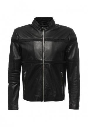 Куртка кожаная Bikkembergs BI535EMQAU71. Цвет: черный