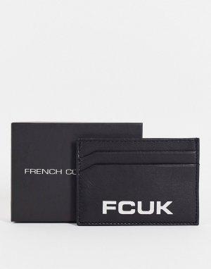 Черная визитница с крупным логотипом FCUK -Черный цвет French Connection