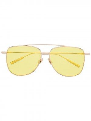 Солнцезащитные очки-авиаторы AMBUSH. Цвет: золотистый