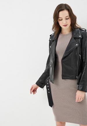 Куртка кожаная Arma AR020EWZSI43. Цвет: черный