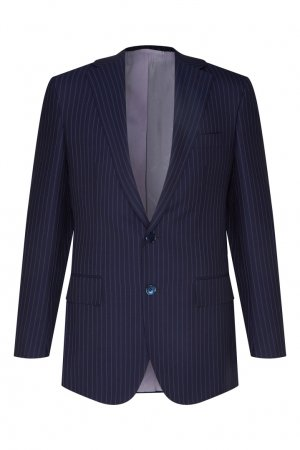 Черный костюм в полоску Stefano Ricci. Цвет: синий