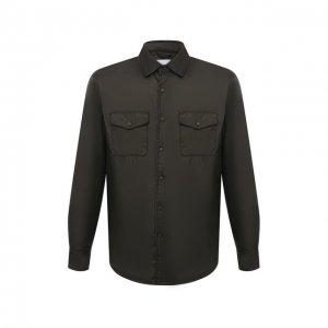 Утепленная куртка Aspesi. Цвет: хаки