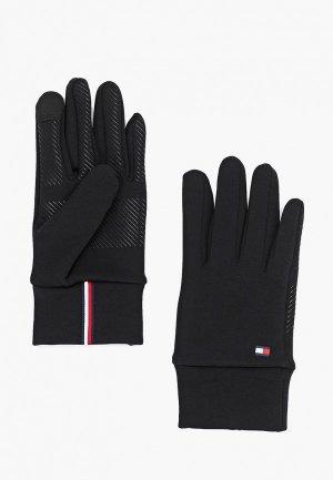 Перчатки Tommy Hilfiger. Цвет: черный