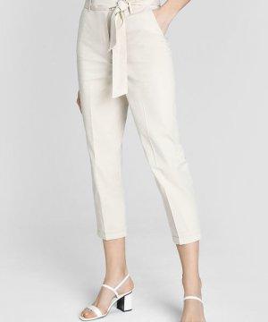Зауженные брюки из хлопка O`Stin. Цвет: шампань