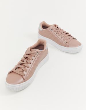 Бело-розовые кроссовки K Swiss court frasco-Розовый K-Swiss