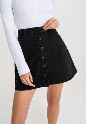 Юбка джинсовая Befree. Цвет: черный