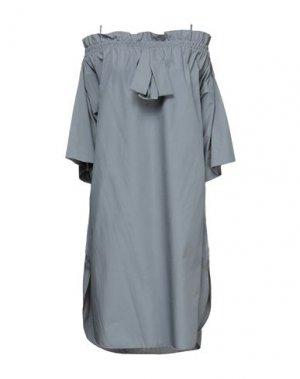 Короткое платье HACHE. Цвет: серый