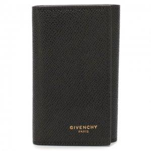 Кожаный футляр для ключей Givenchy. Цвет: чёрный