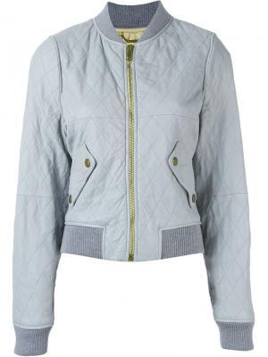Cropped bomber jacket Chloé. Цвет: серый