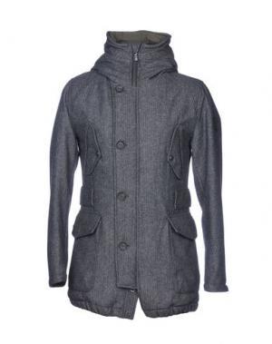 Пальто ADHOC. Цвет: свинцово-серый