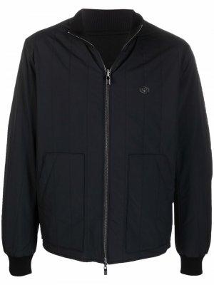 Quilted panel bomber jacket Emporio Armani. Цвет: черный
