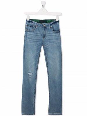 Levis Kids джинсы кроя слим с заниженной талией Levi's. Цвет: синий