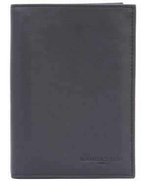 Кожаное портмоне LANCASTER. Цвет: черный