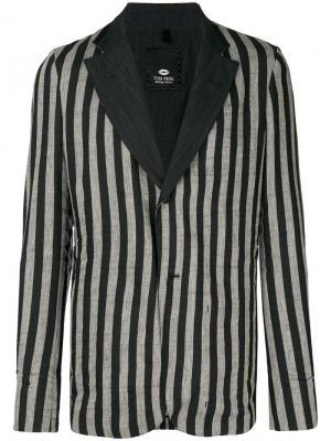 Пиджак в полоску Tom Rebl. Цвет: черный