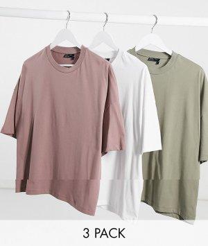 Набор из 3-oversized футболок ASOS DESIGN