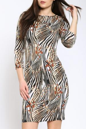 Платье Collezione di Ines. Цвет: коричневый