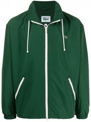 Легкая куртка с нашивкой-логотипом Lacoste. Цвет: зеленый
