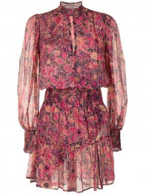 Платье Sylvie с вышивкой A.L.C.. Цвет: розовый