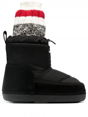 Зимние ботинки с носочной вставкой Dsquared2. Цвет: черный