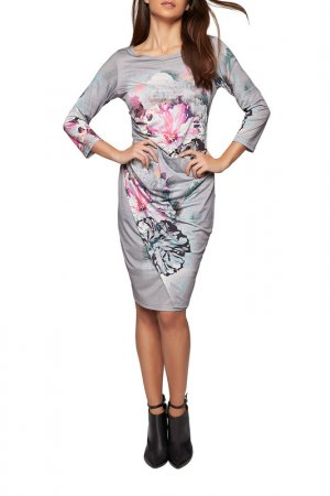 Платье Apart. Цвет: серебристо-серый, мультицвет