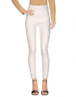 Повседневные брюки 8PM. Цвет: слоновая кость