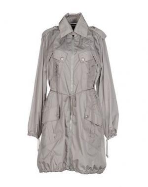 Легкое пальто HOGAN BY KARL LAGERFELD. Цвет: голубиный серый