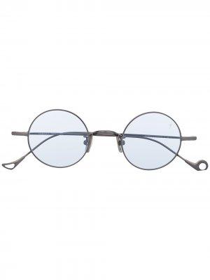 Солнцезащитные очки в круглой оправе Eyepetizer. Цвет: серебристый