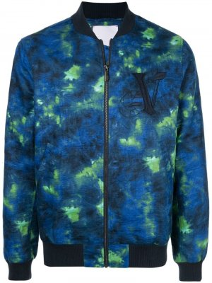 Куртка-бомбер с принтом тай-дай Ports V. Цвет: синий
