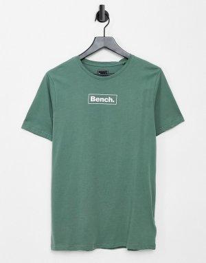 Зеленая футболка с логотипом -Зеленый цвет Bench