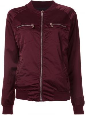 Куртка-бомбер без воротника Rta. Цвет: розовый и фиолетовый