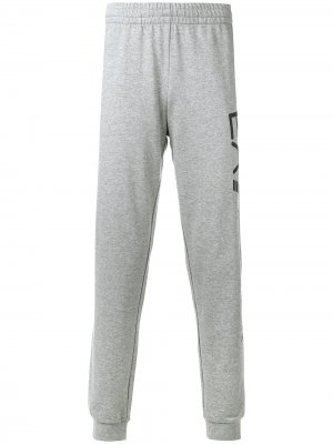 Спортивные брюки с логотипом Ea7 Emporio Armani. Цвет: серый