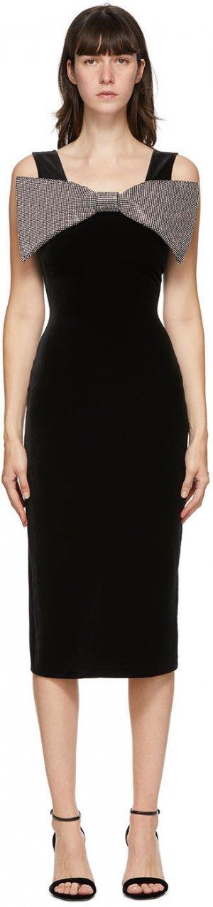 Black Velvet Bow Dress Christopher Kane. Цвет: black