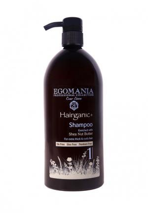 Шампунь для вьющихся волос Egomania Prof Hairganic+ - густых, 1000 мл. Цвет: разноцветный