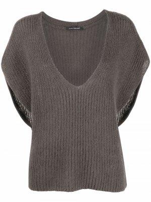 Пуловер с V-образным вырезом Luisa Cerano. Цвет: серый