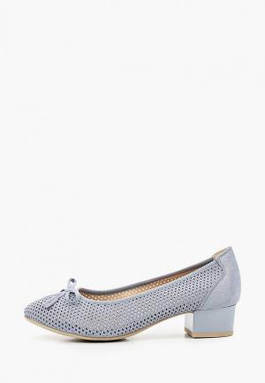 Туфли Caprice Увеличенная полнота, Comfort. Цвет: голубой