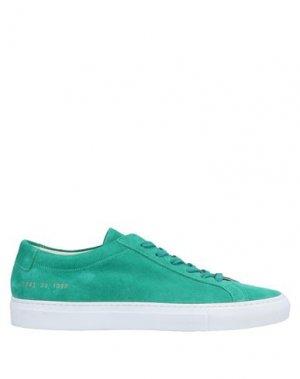 Низкие кеды и кроссовки WOMAN by COMMON PROJECTS. Цвет: зеленый