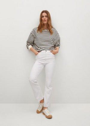 Укороченные джинсы flare - Sienna Mango. Цвет: белый