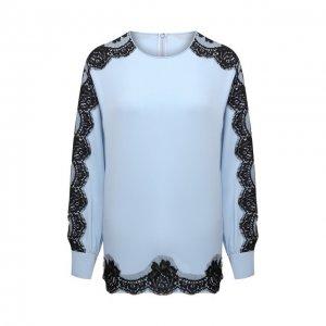 Шелковая блузка Dolce & Gabbana. Цвет: синий