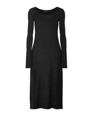 Платье до колена ATM ANTHONY THOMAS MELILLO. Цвет: черный