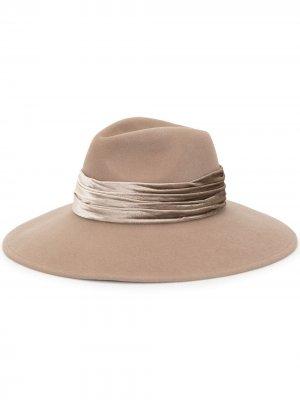 Фетровая шляпа с лентой Eugenia Kim. Цвет: коричневый
