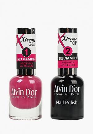 Набор гель-лаков Alvin Dor D'or Гель Xtreme extreme (Лак+Top) 2х15мл.5227 тон MIX 27. Цвет: прозрачный
